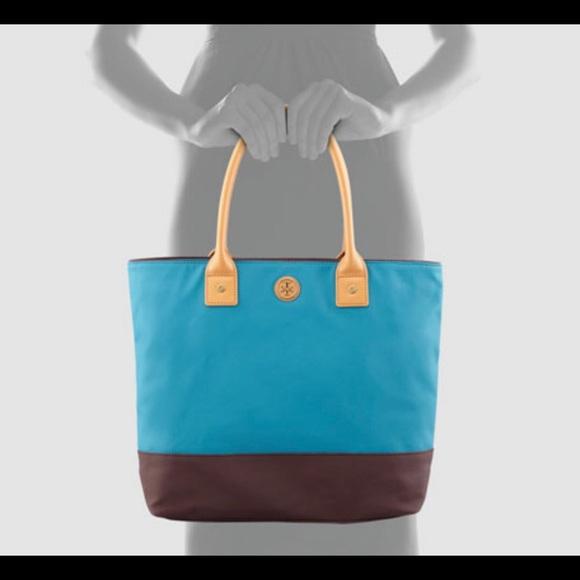 6478fb216dbf Tory Burch Jaden Canvas Color Block Tote Bag Purse.  M 5c149551194dadb430f91c62